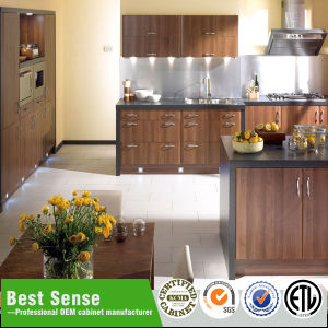 Wood Grain Better Price Cabinet Kitchen pictures & photos