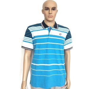 Custom Good Quality Women Striped Cotton Polo Shirt pictures & photos