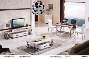 Home Furniture Ivory Whiite Marble Coffee Table pictures & photos