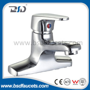 Deck Mounted 2 Holes Single Lever Wash Basin Mixer pictures & photos