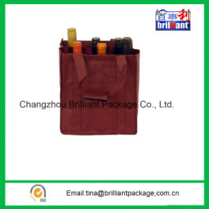 Non Woven Wine Bottle Bag with Hook & Loop Attachment pictures & photos