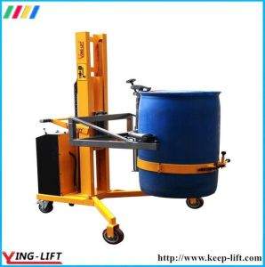 Electric Hydraulic Lifting and Lowering V-Shaped Drum Lift Dtf300 pictures & photos
