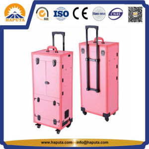Professional Rolling Makeup Trolley Case with Light (HB-5001) pictures & photos
