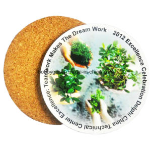 Custom Printed Cork Coaster for Promotion Gifts pictures & photos