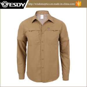 Esdy Men′s Outdoor Breathable Quick-Drying Long- Sleeved Shirt pictures & photos