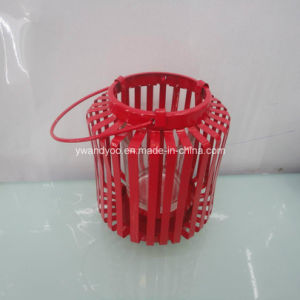 Home Decor Red Metal Candle Holder pictures & photos