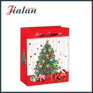 Christmas Decorations Packing 4c Printed Shopping Carrier Gift Paper Bag pictures & photos