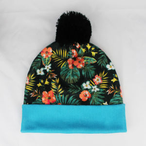 Floral Printing Beanie Hats Flowers Pattern pictures & photos