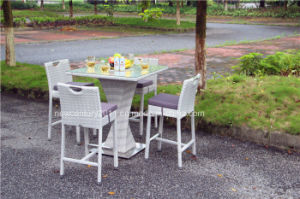 Outdoor Garden Rattan Wicker Leisure Bar Table and Chair
