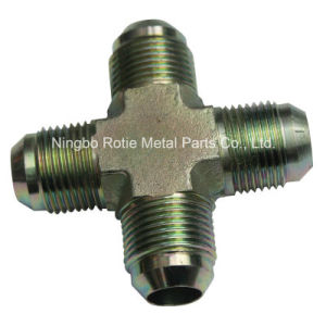 Zinc Coated Male Cross of CNC Machining Fittings pictures & photos