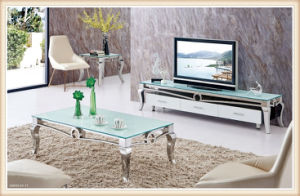 Modern Living Room TV Stand Stainless Steel Glass Coffee Table pictures & photos