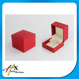 Fancy Paper Cover Red Paper Ring Box Accept Custom Logo pictures & photos