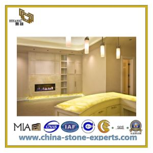 Polished Beige Marble Slab for Wall/Floor (YQC) pictures & photos