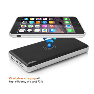 Phone Power Bank with Qi Wireless Charge Function pictures & photos