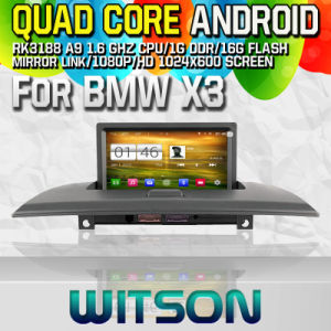 Witson S160 Car DVD GPS Player for BMW X3 with Rk3188 Quad Core HD 1024X600 Screen 16GB Flash 1080P WiFi 3G Front DVR DVB-T Mirror-Link Pip (W2-M103) pictures & photos