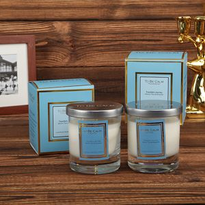 Scented Soy Clea Glass Candle with Label in Box pictures & photos