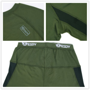 3-Colors Esdy Tactical Outdoor Sports Warm Thermal Underwear Set pictures & photos