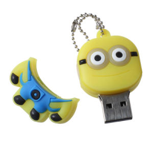 Custom 3D Any Logo Promotional Gift PVC Rubber 1 Tb USB Flash Drive pictures & photos