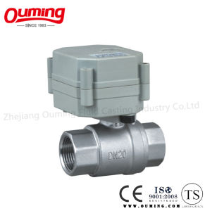 2PC Stainless Steel Electric Actuated Ball Valve pictures & photos