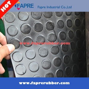 Commercial / Industrial Use Anti-Slip Round DOT/Stud/Coin Pattern Rubber Floor Mat. pictures & photos