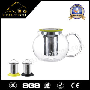 Clear Glass Teapot with Filter