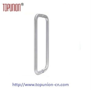 Ss304 Tube Glass Door Offset Pull Handle (pH014) pictures & photos