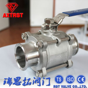 Stainless Steel Clamp Type 3PC Ball Valve pictures & photos