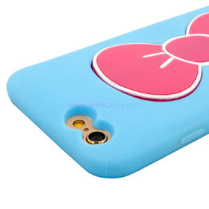 Wholesale Foldable Vara Bow Holder Silicone Cell/Mobile Phone Cover/Case for iPhone 5/6/6plus pictures & photos