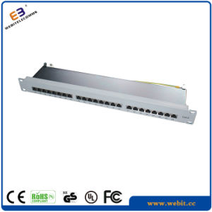 19′′ STP 24 Ports CAT6 Patch Panel with Horizontal Version pictures & photos