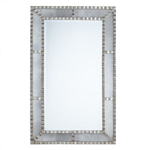 Ribbon Panel Framed Wall Antique Mirror in Antique Silver Finished for Decoration pictures & photos