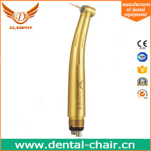 Luxury Gold Triple Water Spray Anti-Retraction Dental Handpiece pictures & photos