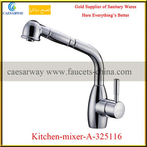 Brass Single Lever Pull out Spray Kitchen Sink Tap pictures & photos
