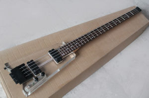 Hanhai Music/4 Strings Acrylic Glass Electric Bass Without Headstock pictures & photos