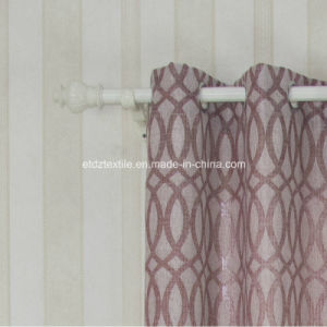 Polyester Linen Like Jacquard Curtain Fabric pictures & photos
