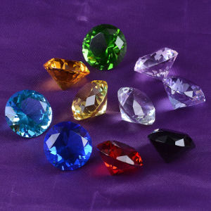 30mm Wholesale Colorful Glass Crystal Diamond Love Gifts Wedding Decoration pictures & photos