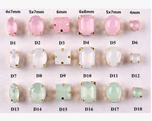 Opal Color Fancy Strass with Claw Settings pictures & photos