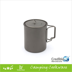 750ml 26oz Titanium Camping Mug with Folding Handle pictures & photos