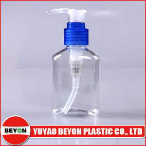 100ml Transparent Oval Shaped Plastic Pet Bottle for Cosmetic Packaging pictures & photos