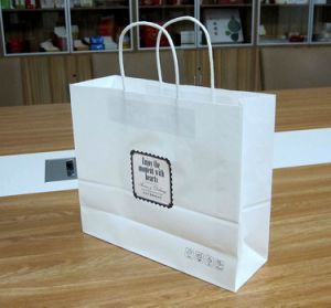 White Craft Paper Bag with Paper Handle with Competitive Price pictures & photos