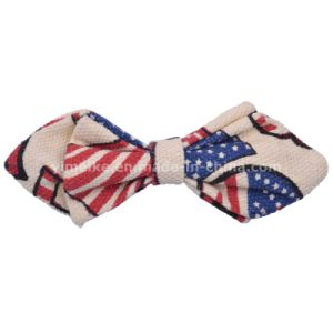 New Safety Pin Design Canvas Pointed Kids Bowtie Printed Patterns pictures & photos