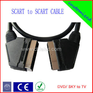 100% Tested 1.5m 21pin Customized Scart Cable (SY203) pictures & photos