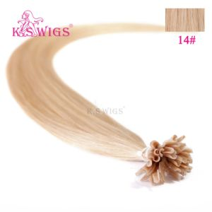 Hot Sale Keratin Virgin U-Tips Pre-Bonded Human Hair Extension pictures & photos