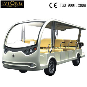 14 Seat Electric Sightseeing Car 72V Golf Cart pictures & photos