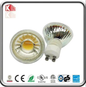 Glass Body COB GU10 LED 5W Spotlight Dimmable 110V/220V pictures & photos
