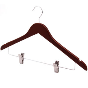 Clips Top Set Coat Hanger for Clothes Mahogany /Brown pictures & photos
