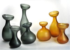 Hand Made Home Decoration Colored Glass Vase Set
