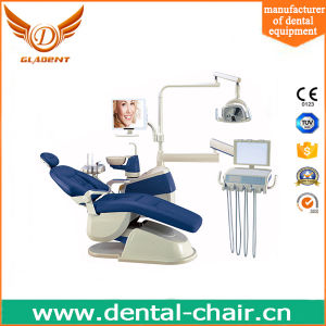 MID-Range Price Medical Chair Dental Chair with Big LED Lamp pictures & photos