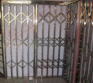 Super Quality Stainless Steel Accordion Pulled Door (BHS-DA05) pictures & photos