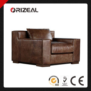 Orizeal Modern Living Room Top Grain Genuine Leather Sofa (OZ-LS-2016) pictures & photos
