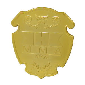 Customized Engraved Gold Metal Alloy Badge pictures & photos